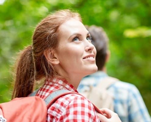 Optimismus wie schauen Sie in die Welt hinein