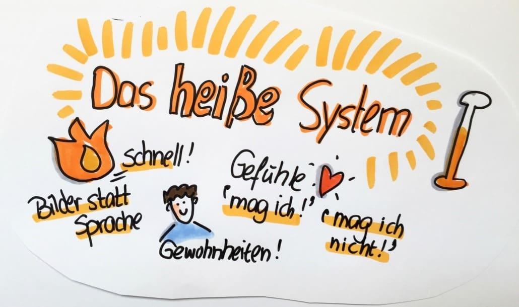 Das emotionale schnelle - heiße - System