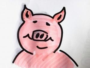 Der Schweinehund bequem und behäbig