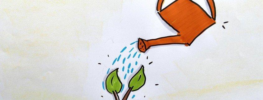 Giesskanne für Pflänzchen Zuversicht